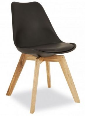 Deko Dining Chair With A Black Seat