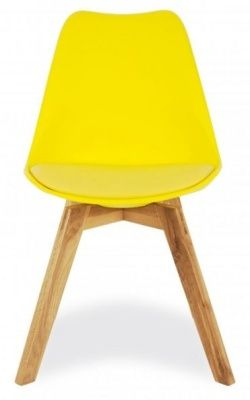 Deko Dining Chair With A Yellow Seat Facing