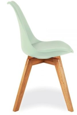 Deko Dining Chair With A Peppermint Seat Side View