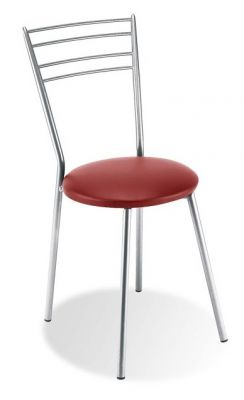 Rosso Metal Bistro Chair Red Seat