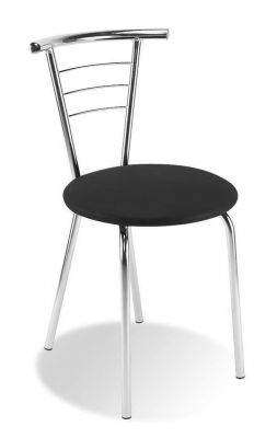 Arancia Chair Chrome Frame Black Vinyl Seat
