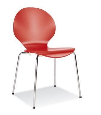 Piazza 6 Chair Red Laminagte Finish