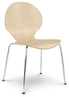 Piazza 6 Chair Vanilla Laminate Finish