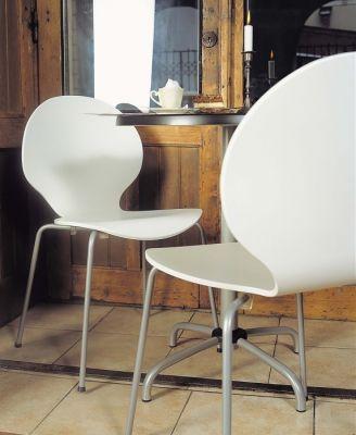 Piazza 6 Chair White Laminate Mood Shot