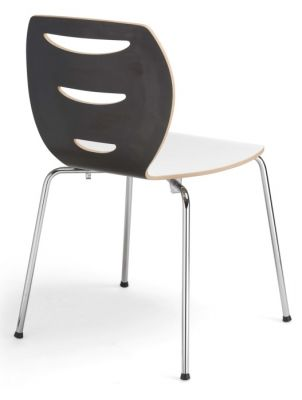Lania Laminate Cafe Chairs Rear View