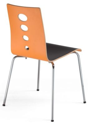 Sobo Laminated Cafe Chair Rear View