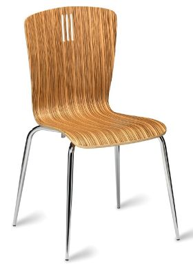 Pela Cafe Chair Zebrano Finish