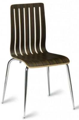 Lucca Cafe Chair In A Wenge Zebrano Finish