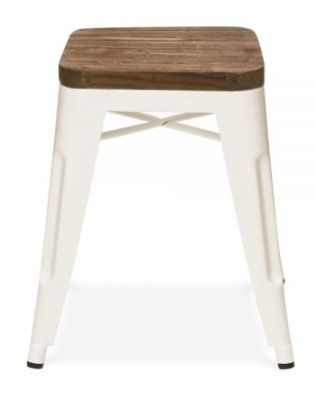 Tolllix V2 Low Stool With Wooden Seat