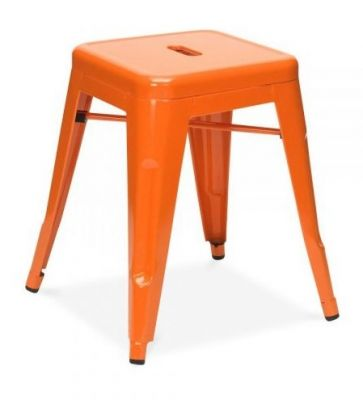 Tollix Vw Metal Stools In Orange
