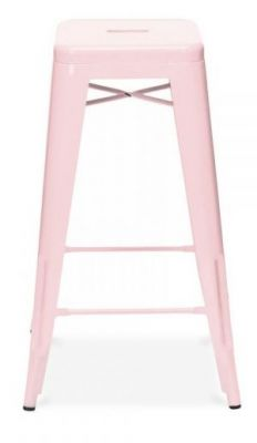 Tollix V3 High Stool In Baby Pink Side View
