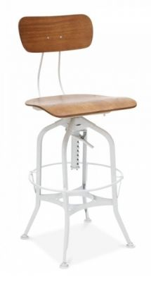Toledo High Stool In White Front Angle