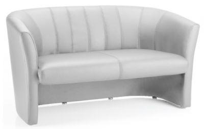 Neron White Leather Sofa