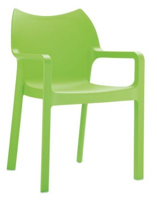 Theo Lime Green Poly Arm Chair