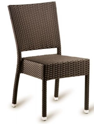 Londi Outdoor Weave Side Chair In Brown