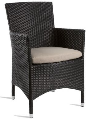 Outdoor Weave Armchair With A Black Weave