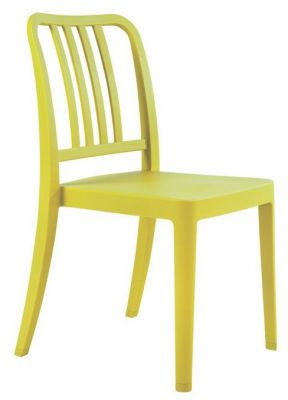 Navy Poly Chair In Lime Green