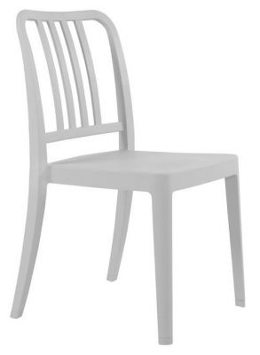 Navy Poly Chair Light Grey