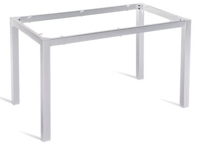 Dexel Rectangular Table Frame Silver Finish