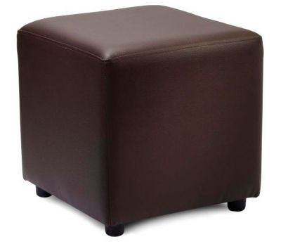 Boston Brown Leather Cube