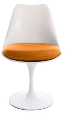 Tuluip Chair With An Orange Seat Front Shot
