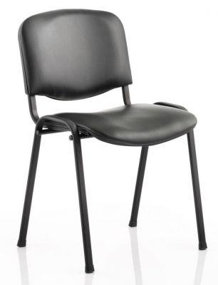 Stakk Achair With A Black Vinyl Seat