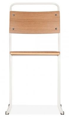 Baukhaus Chair With A White Frame Front View