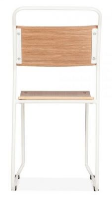 Bahaus Chair With A White Frame Rear View