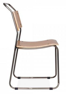 Bauhaus Chair Gunmetal Frame Side View