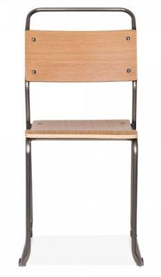 Bauhaus Chair Gunmetall Frame Front View