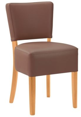 Rosie V2 Chocolate Leather Dining Chairs