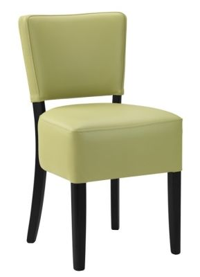 Rosie V2 Dining Chair Lime Leather With A Wenge Frame