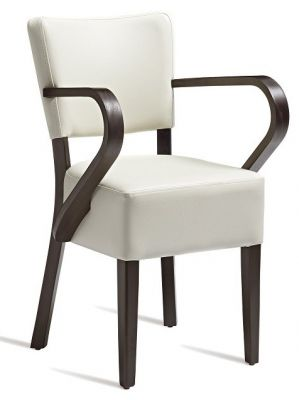 Roside V2 Leather Arm Chair Creanm Leather