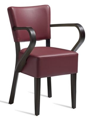Rosie V2 Leather Dining Armchair Wine