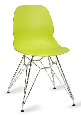 Mylo V5 Chair With A Pyramid Frame Lime Green