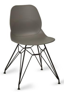 Mylo V6 Pyramid Chair Grey Shell Black Frame