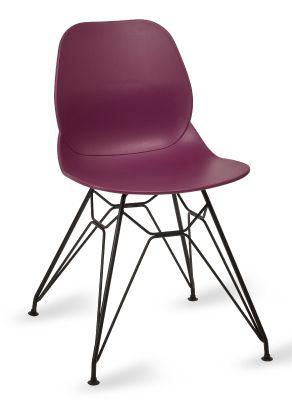 Mylo V6 Pyramid Chair Plum Shell Black Frame