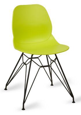 Mylo V6 Pyramid Chair Lime Green Shell Black Frame