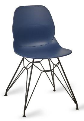 Mylo Pyramid Chair Navy Shell Black Frame