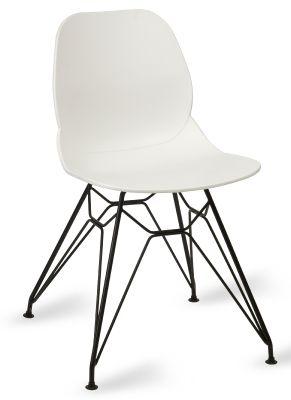 Mylo V6 Pyromid Chair White Shell Black Frame