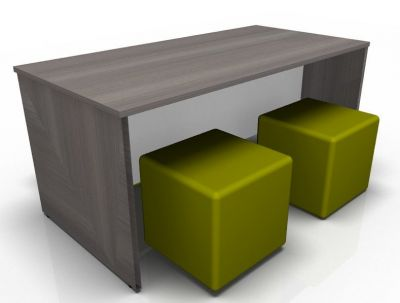 Aqvalon Dining Bench And Four Green Jojo Cubes