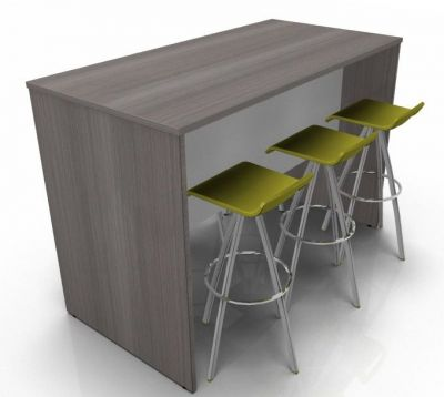 Avalon Panel Sides Poseur Height Dining Set A