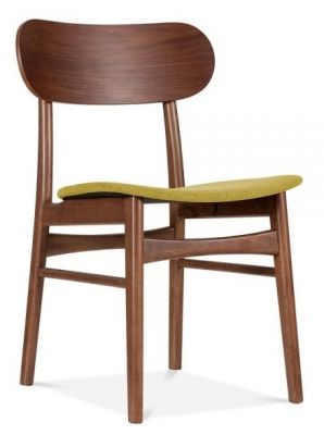 Texas Designer Chair With An Olive Green Seat Front Angle