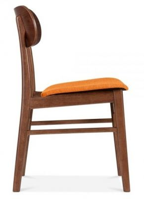 Texas Designer Side Chair With An Ornge Seat Side View