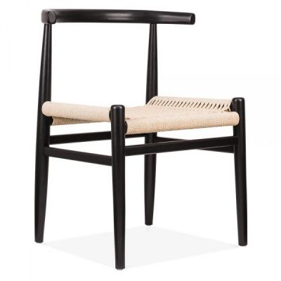 Svenda Chair With A Black Frame Front Angle