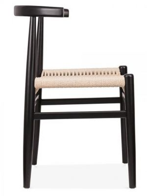 Svenda Chair With A Black Frame Side View