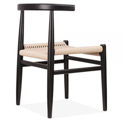 Svendas Dining Chair With A Black Frame Rear Angle