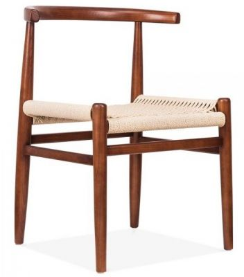 Svenda Chair With A Walnut Frame Front Angle