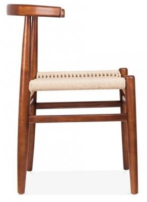 Svenda Dining Chair With A Walnut Frame Side View