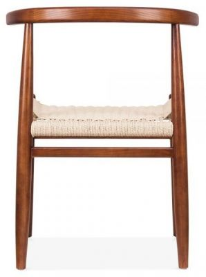 Svenda Dining Chair With A Walnut Frame Rear View